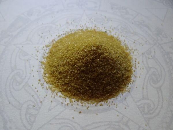 Incense Burner Sand * YELLOW * 4 oz Wiccan Pagan Metaphysical Altar Supply