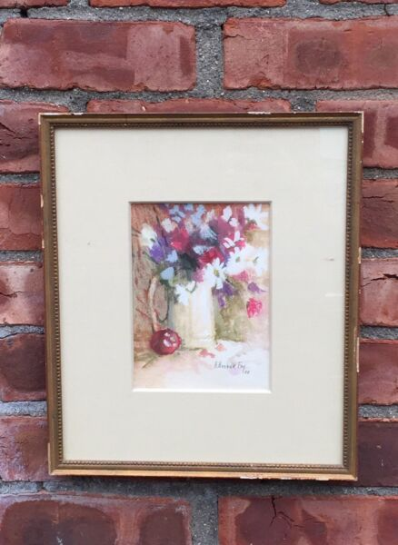 Montana Artist Arlene Hooker Fay Floral Still Life Watercolor Painting. Signed