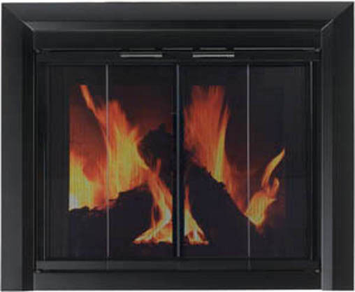 Pleasant Hearth Glass Fireplace Door Clairmont Black Medium CM-3011 New