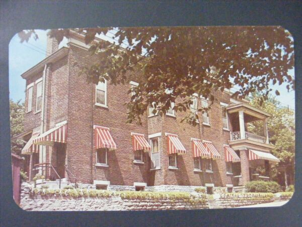 Cincinnati Ohio Randall Aluminum Awnings Faulk Mfg Color Chrome Postcard 1950#x27;s