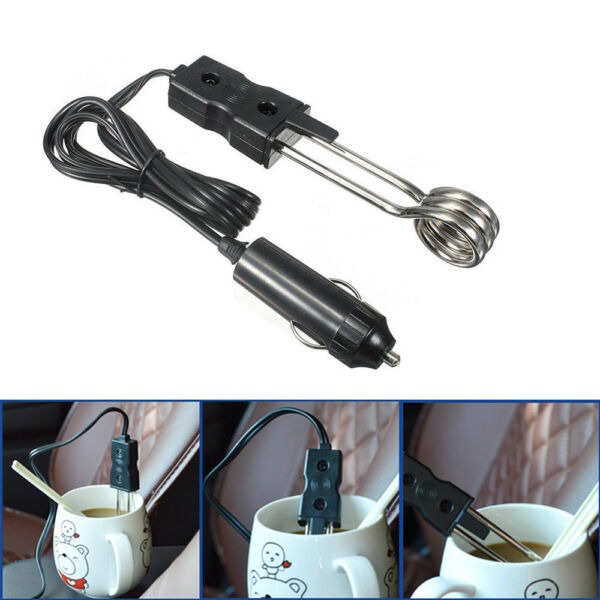 1X Hot Safety 12V In-Car Immersion Heater Auto Electric Tea Coffee Water Heater