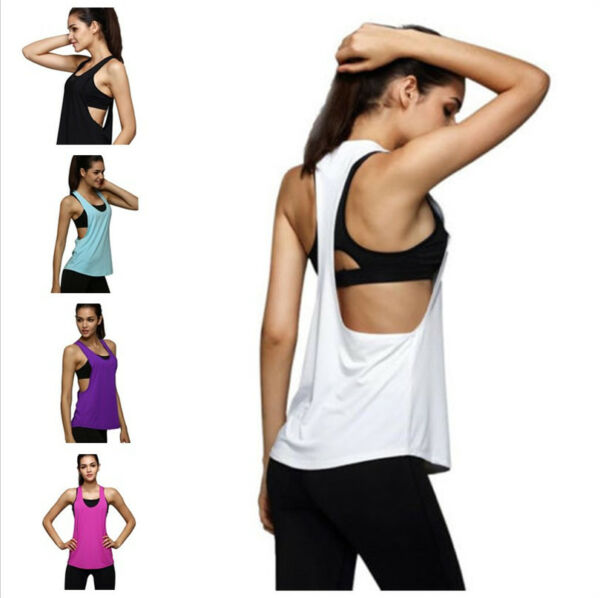 Classic Frauen Loose Tank Top Basic Sommer Frauen Shirt Sport Fitness  Damen