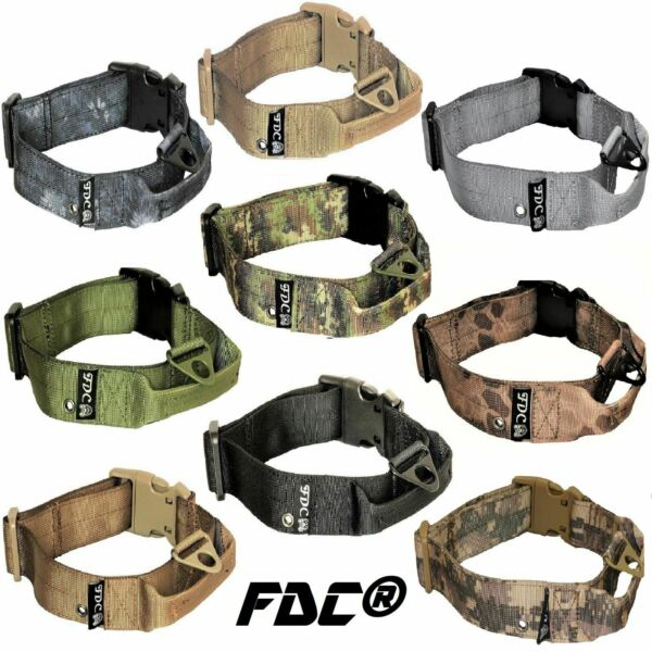 Tactical Dog Collar Heavy Duty Working Training With Handle Plastic Buckle Width $17.95