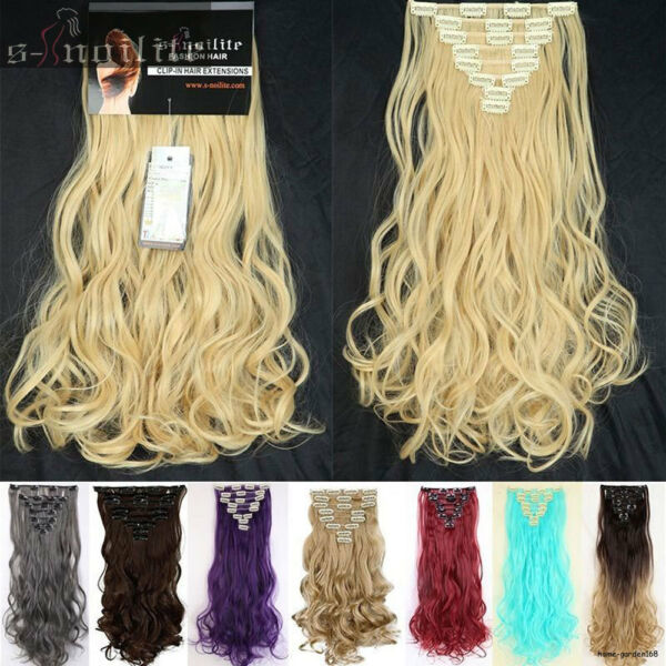 Double Weft Full Head Clip in Hair Extensions real natural for remy human hair $11.70