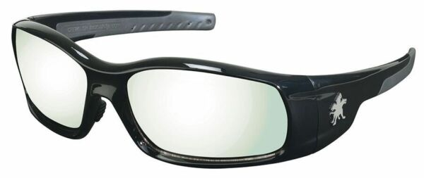 Crews Swagger Safety Glasses Black Frame and Indoor-Outdoor Anti-Fog Lens