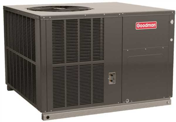 Goodman 14 SEER 2 Ton Self Contained Packaged Heat Pump - Dedicated Horizontal