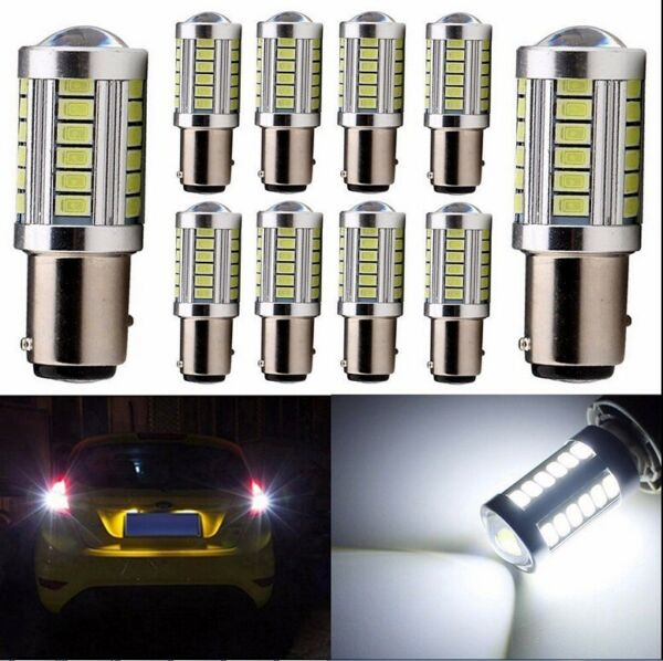 10X White P21W 1156 BA15S Cree 33 LED Bulb 5730 SMD Super Bright Car Light Auto