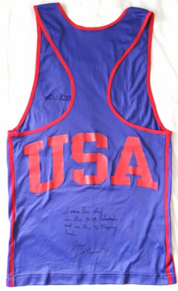 1994-96 FLOYD MAYWEATHER JR. amateur career worn & signed USA boxing vest