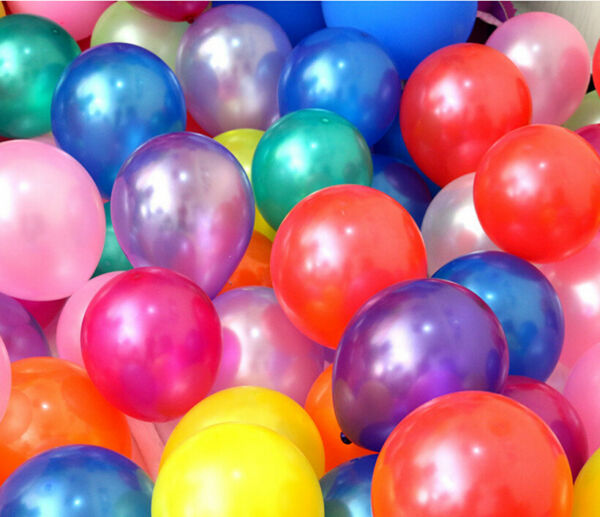 100pcs 10 inch Pearl Latex Colorful Thickening Wedding Party Birthday Balloon  $6.07