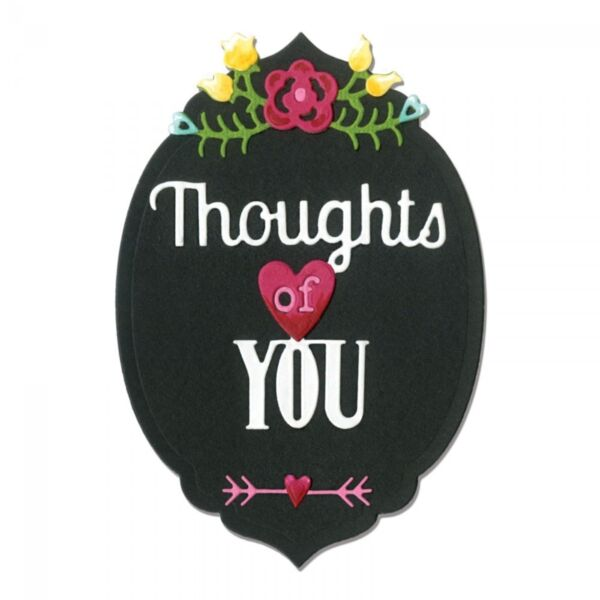 Sizzix Thinlits Die Set 5PK - Phrase Thoughts of You  660371