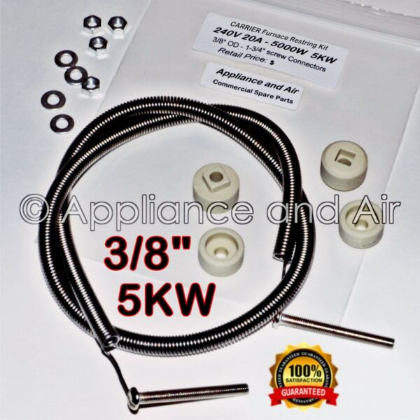 "ELECTRIC HEATING ELEMENT KIT Restring HVAC PART FURNACE  38"" 5KW 240V UNIVERSAL"