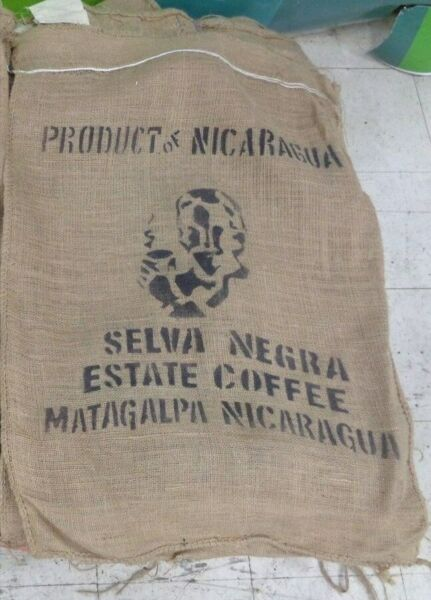Lots of 5 or 10 Coffee Bean Burlap Sack Approx 27