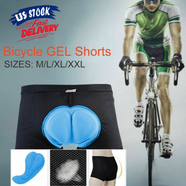 Men#x27;s 3D Padded Cycling Underwear Gel Bike Riding Shorts Pants Shorts M XXXL US $10.99
