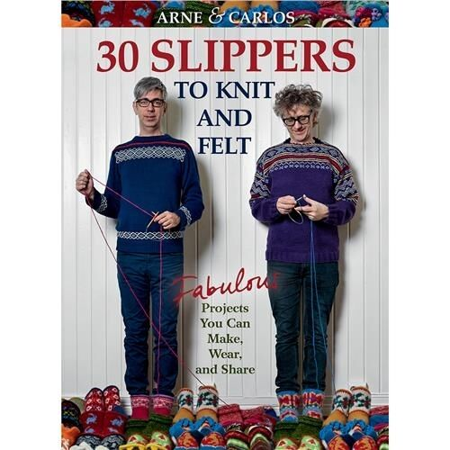 Trafalgar Square Books 30 Slippers to Knit And Felt - 518413