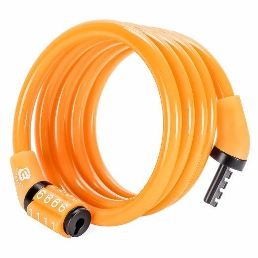 Security 4 Digit Combination Bike Cable Lock 4 Feet x 5 16 Inch by Etronic $8.99