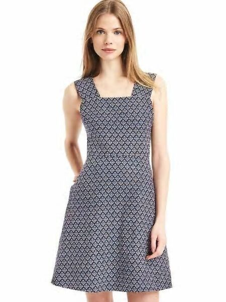 GAP Linen fit and flare dress NWT Sz 14 true black 1131A4 $24.99