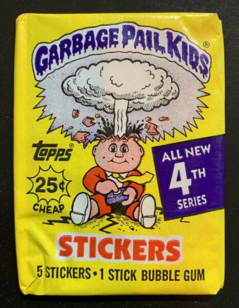 1986 Garbage Pail Kids 4th Series Unopened Pack 1 RARE-WHITE CLOUD Wax Pack TWT