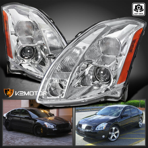 For 2004 2006 Nissan Maxima Clear Replacement Projector Headlights LeftRight $173.26