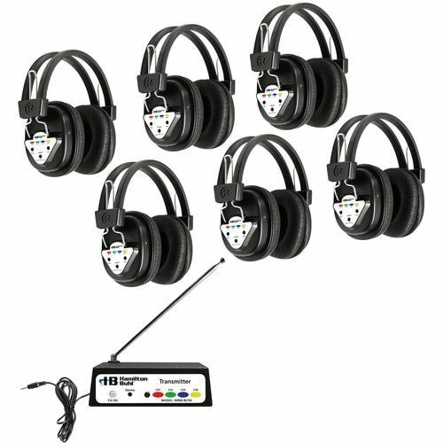 6 Station with Headphones and Bluetooth Transmitter Multi Frequency