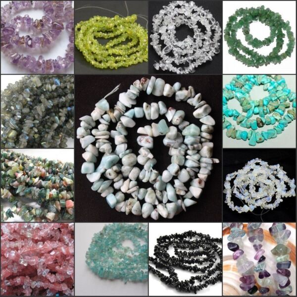 16inch DIY natural freeform Gemstone chips loose Beads strand jewelry making