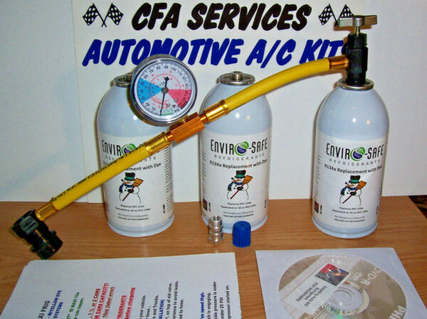 R12 COMPATIBLE AC REFRIGERANT 3 MAXI FRIG 12a 1994 &OLDER RECHARGE REFILL KIT