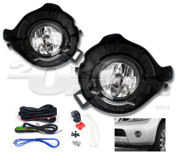 OE STYLE FOG LIGHTS PAIR CLEAR SWITCH WIRE FOR 05-12 PATHFINDER 05-09 FRONTIER