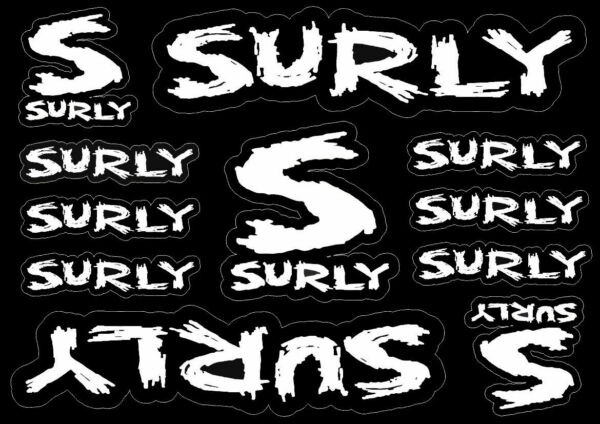 Surly Bike Bicycle Frame Decals Factory Stickers Graphic Adhesive Vinyl 11pcs $12.99