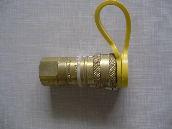 Charbroil Brass Natural Gas Grill Quick Disconnect Hose Fitting 3 8quot; with Cap $10.00