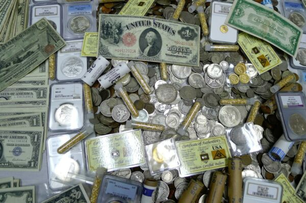 GIGANTIC 100+ COIN ESTATE LOT! NGCPCGSGOLDSILVERCURRENCYROLLSANTIQUEMORE!