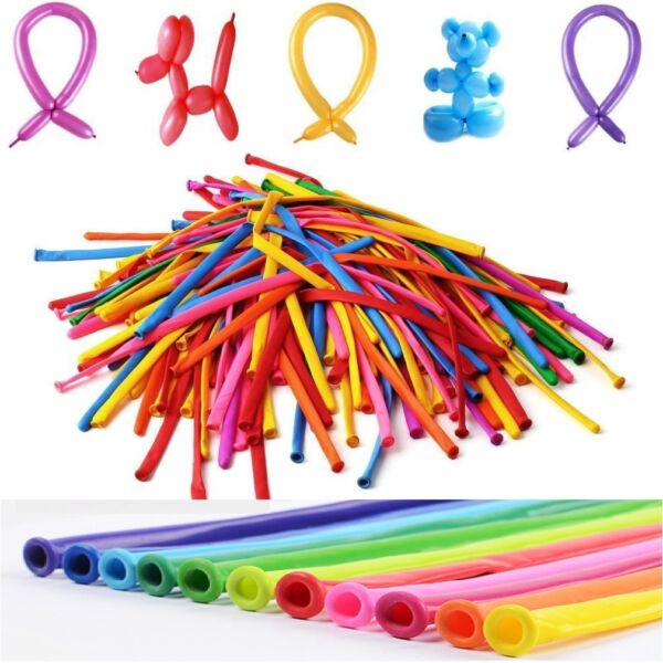 1 to 200 Animal Flower Party Twist Latex Tying Magic Long Balloons Fashion Color