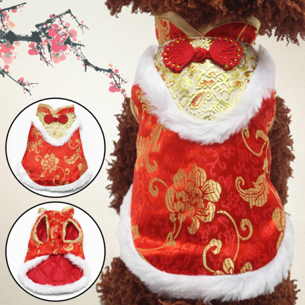 Pet Supply Dog puppy Chinese New Year TOP XS S M L