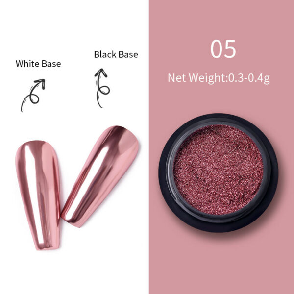 0.2g Mermaid Mirror Powder Dust Chameleon Nail Chrome Pigment DIY Born Pretty