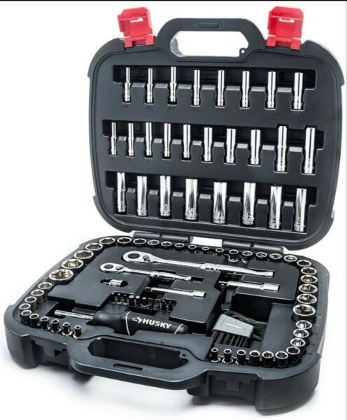 NEW 100 Piece Husky Mechanics Multi Tool Set-Wrenches-Screwdriving Bits-Sockets