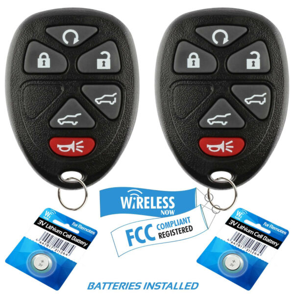 2 Car Key Fob Keyless Remote 6Btn For 2007 2008 2009 2010 2011 Chevrolet Tahoe