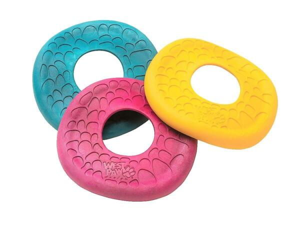 NEW Pink Blue or Yellow Zogoflex Air Dash Flying Disc Frisbee Dog Toy West Paw