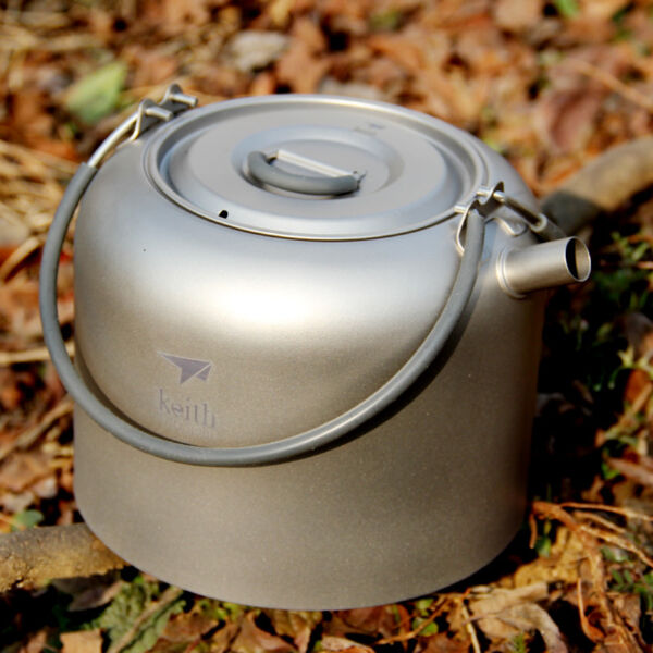 1.5L200g Titanium Water Kettle Camp Picnic Cooking Cookware Coffee Pot Teapot