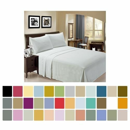 Bamboo Sheet Set 4 pc by LuxClub Full Queen King California King 30 Colors $28.99