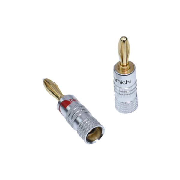 New 24K Gold Plated Audio banana plug Speaker Wire Jack Connector Plug Nakamichi
