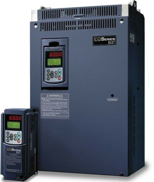 100 HP 3 PHASE 230 VOLTS TECO IP 20 VARIABLE FREQUENCY DRIVE EQ7-2100-C NEW