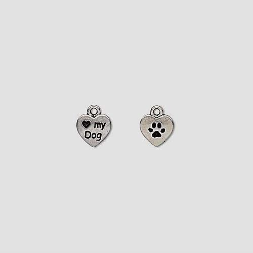 I LOVE MY DOG CHARMS LOT of 2 by Tierra Cast $3.79