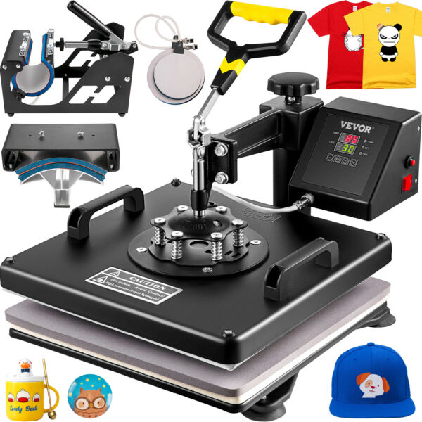 5 in 1 Heat Press Combo Machine 15quot;x15quot; Transfer Sublimation Kit for T Shirts $139.82