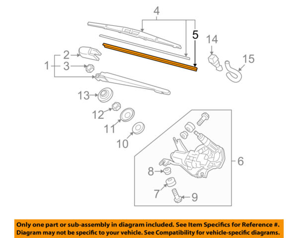 HONDA OEM Wiper Washer-Liftgate Tailgate Hatch-Blade Refill 76632S2K004