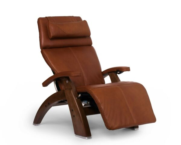 PC-610 Human Touch Perfect Chair Cognac Leather Jade Heat Memory Foam Back Cover