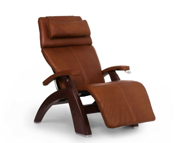 PC-420 Human Touch Perfect Chair Cognac Leather Jade Heat Memory Foam Back Cover
