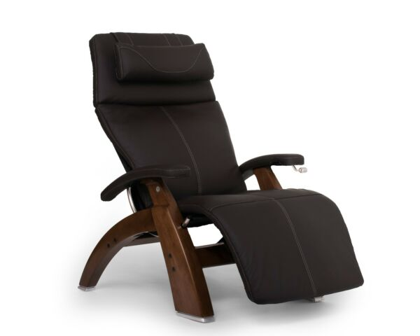 PC-420 Human Touch Perfect Chair Espresso Leather Jade Heat Memory Foam Back Cvr