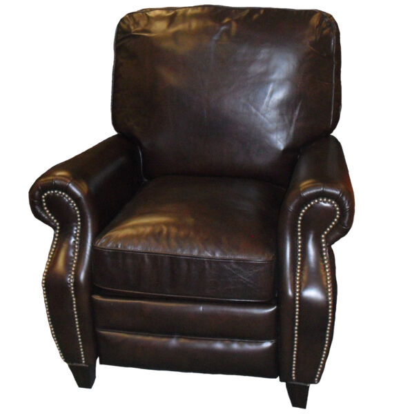 NEW Barcalounger Briarwood II Recliner Genuine Double Fudge Brown Leather Chair