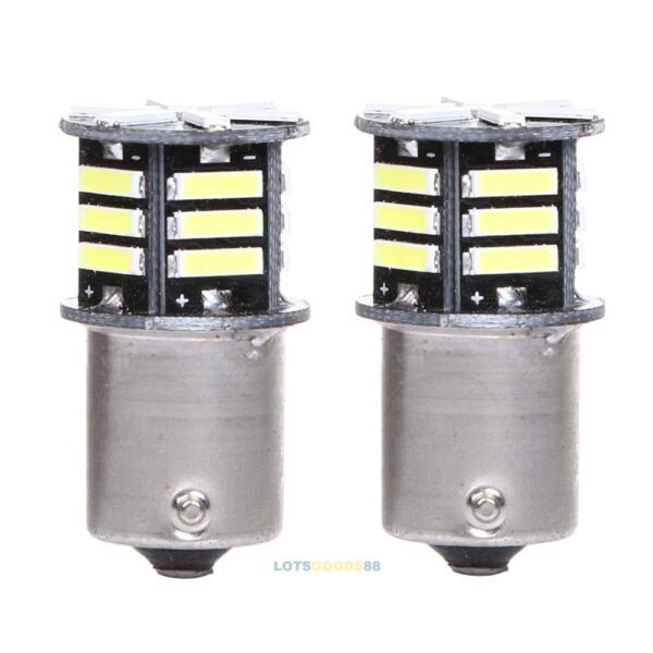 2x Canbus No Error White LED Tail Backup Reverse Light Bulb BA15S 1156 7506 LS4G