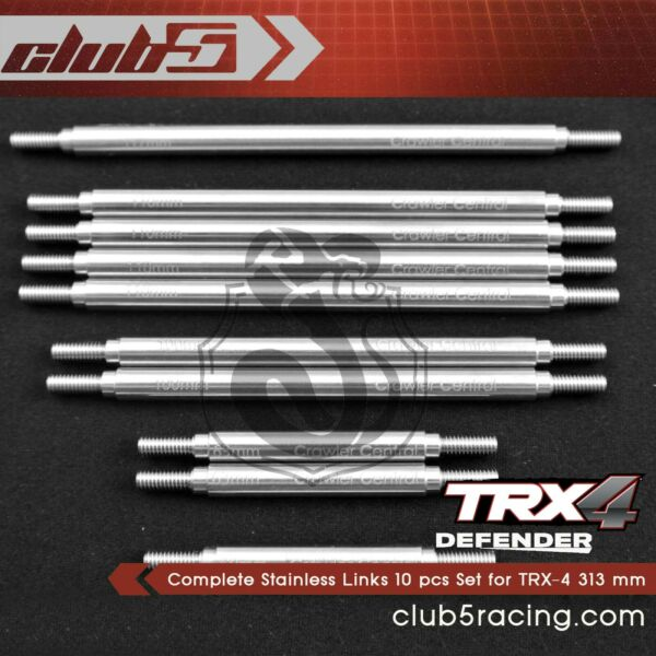 Complete Stainless Links 10 pcs Set for TRX-4 Custom Body 313 mm Conversion