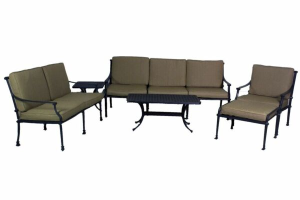 FLORENCE COLLECTION DEEP SEATING LOVESEAT SOFA CLUB CHAIROTTOMANCOFFEE TABLE