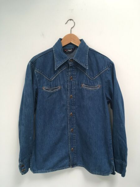 (Moving SALE OBO) Levi's Fresh Produce Denim Shirt Fits Like A Med Made In USA